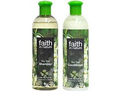 Faith in nature BIO Vlasová sada Tea Tree  (s 2% oleje) 2X400 ml