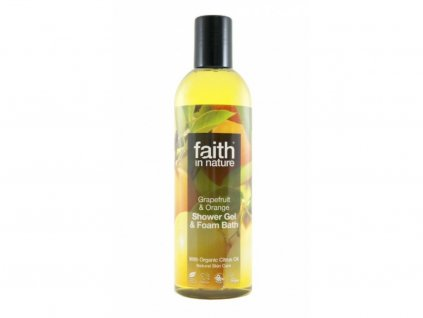 Faith in Nature 2v1 BIO Grapefruit a Pomeranč sprch. gel a pěna do koupele 250 ml