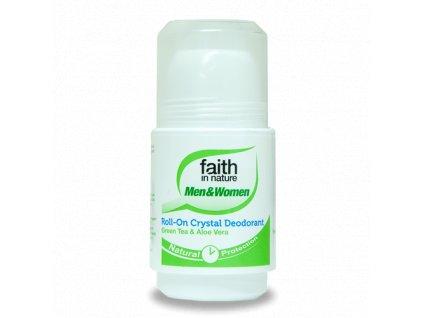Faith in Nature přírodní kuličkový deodorant Crystal - Green Tea a Aloe Vera HA 50 ml