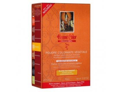 Henné Color - Barva na vlasy Zářivá Blond Premium Végétal 100 g