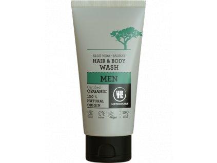 Urtekram BIO 2v1 sprchový gel a šampon pro muže 150 ml