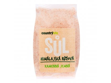 Sůl himálajská růžová jemná 500g COUNTRYLIFE