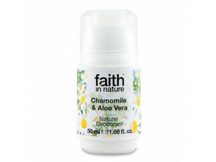 Faith in Nature kuličkový deo-krystal Heřmánek a Aloe Vera HA 50 ml