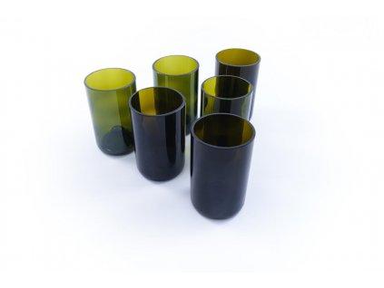 Tierra Verde – Sada sklenic Žízeň po životě – zelená (6 ks vysoká) (Born Again)