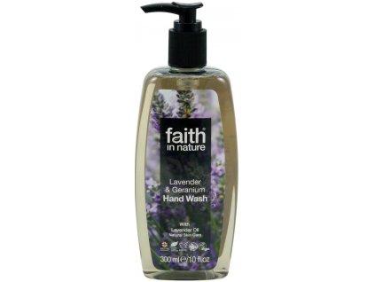 Faith in Nature BIO Tekuté mýdlo Levandule&Pelargonie HA 300 ml