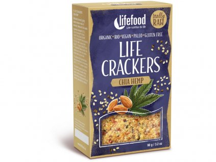 Bio Life crackers konopné s chia 90g