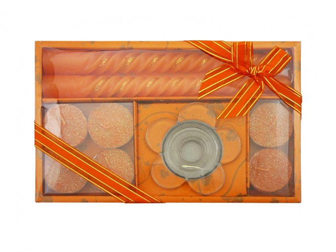 Vánoční dárková sada R87 oranžová AKCE
