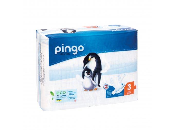 Jednorázové ekologické pleny pro děti č. 3: 4-9 kg 44 ks Pingo