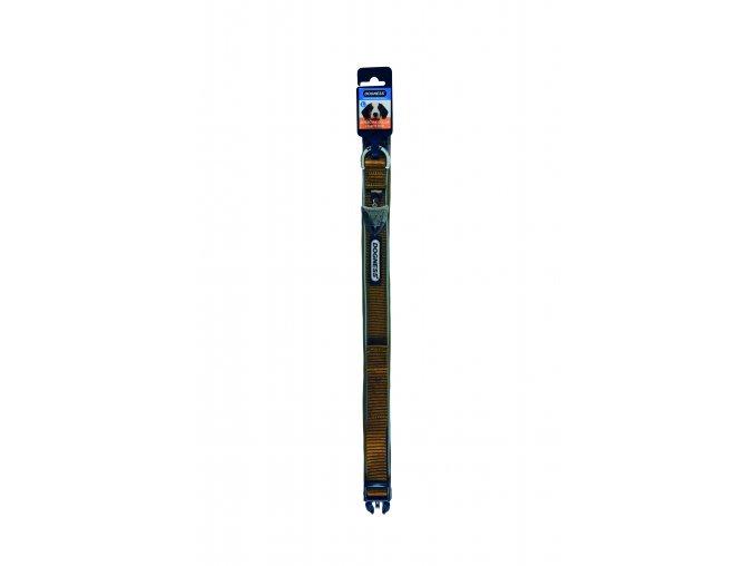 IMAC Nylonový nastavitelný obojek pro psa - hnědý - obvod krku 45-56, tloušťka 2,5 cm