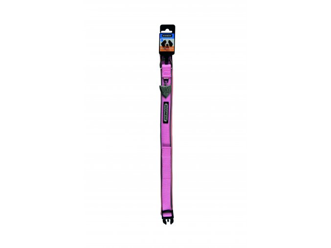 IMAC Nylonový nastavitelný obojek pro psa - růžový - obvod krku 23-29, tloušťka 1,3 cm
