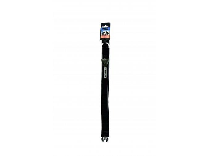 IMAC Nylonový nastavitelný obojek pro psa - černý - obvod krku 56-68, tloušťka 3,8 cm