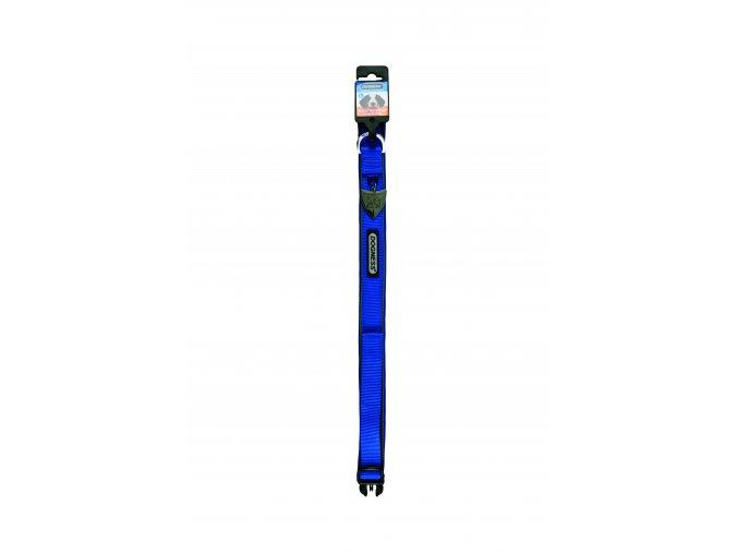 IMAC Nylonový nastavitelný obojek pro psa - modrý- obvod krku 30-37, tloušťka 1,6 cm