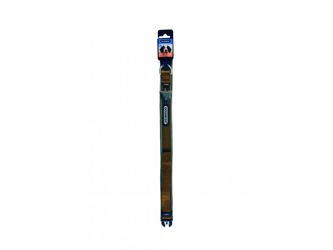 IMAC Nylonový nastavitelný obojek pro psa - hnědý - obvod krku 30-37, tloušťka 1,6 cm