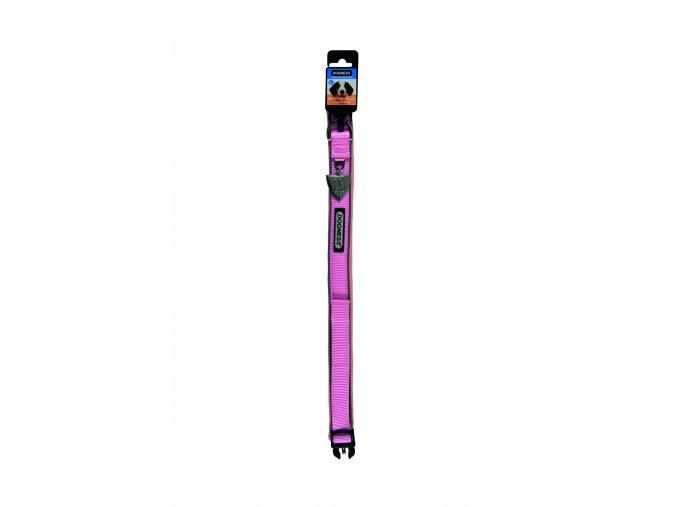 IMAC Nylonový nastavitelný obojek pro psa - růžový - obvod krku 45-56, tloušťka 2,5 cm