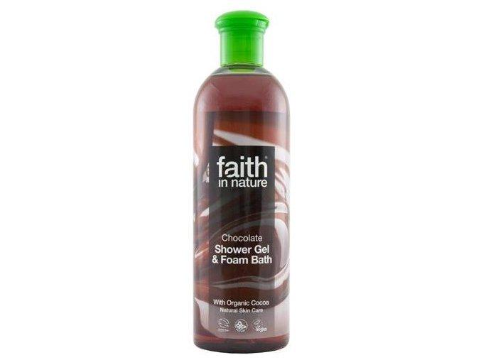 Faith in Nature 2v1 BIO čokoládový sprchový gel a pěna do koupele 400 ml