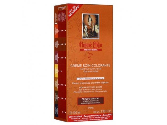 Henné Color - Barevný přeliv Smyslná Mahagonová Premium Végétal 100 ml