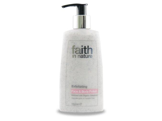 Faith in Nature přírodní peeling na obličej a tělo HA 150 ml