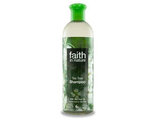 Faith in Nature přírodní Tea Tree šampon (s 2% oleje) 400 ml