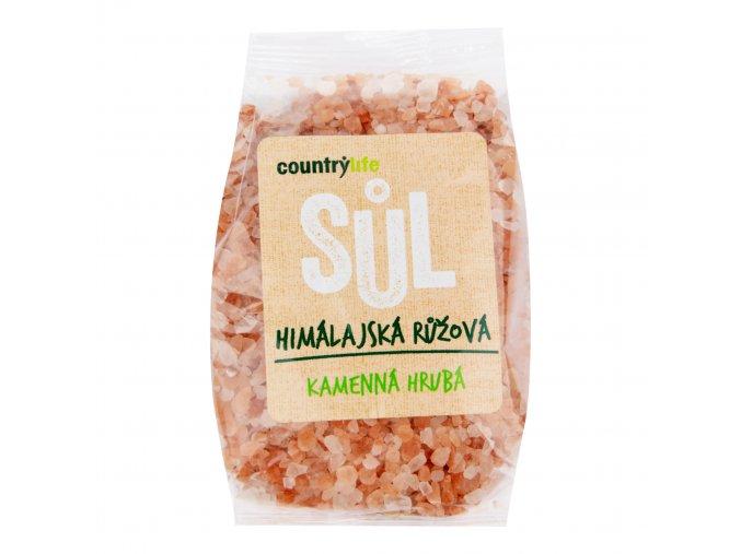 Sůl himálajská růžová hrubá 500g COUNTRYLIFE