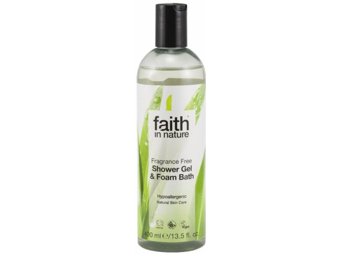 Faith in Nature 2v1 sprchový gel a pěna do koupele bez parfemace HA 400 ml