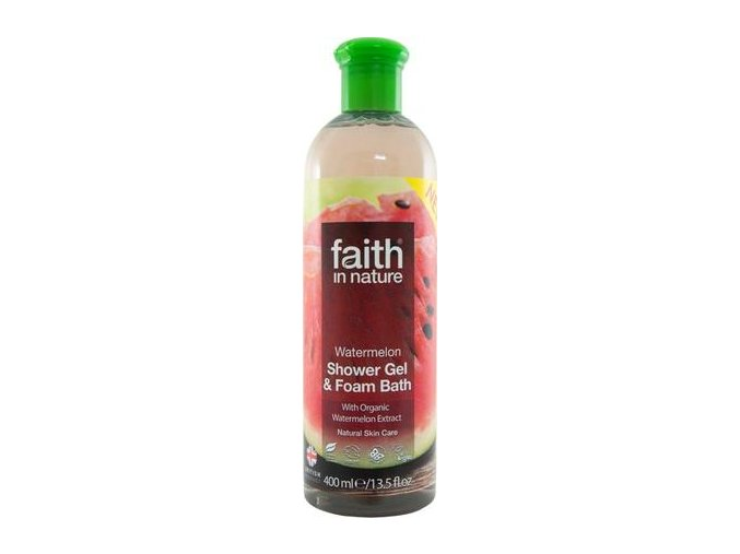 Faith in Nature 2v1 BIO Vodní meloun sprchový gel a pěna do koupele 400 ml