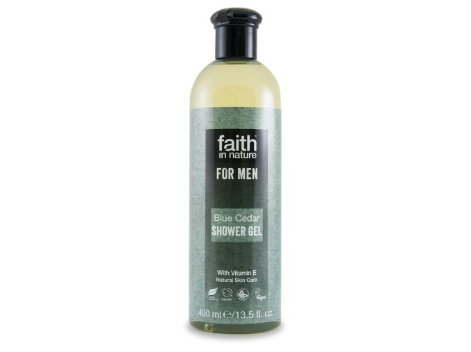 Faith in Nature - For Men Přírodní sprchový gel BIO Modrý cedr 250 ml