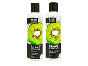 Faith in Nature BRAVE Vlasová sada Kiwi a limetka 2x250 ml
