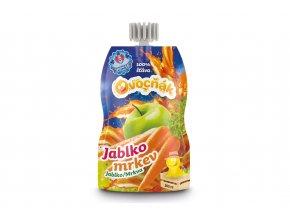 100% šťáva Ovocňák jablko/mrkev 200ml
