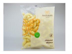 Křupky jáhlové bez lepku - Natural 75g
