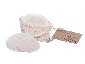 Sada kosmetických tamponů samet – mix (4 ks malý, 2 ks velký)