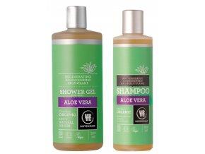 Urtekram BIO Sada Šampon a Sprchový gel Aloe vera 250+500 ml