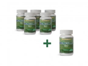 Bio Chlorella 50g, 200 tablet AKCE 5+1