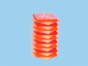 Svíčka PDP kvádr červeno oranžový