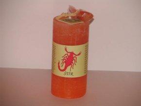 Svíčka válec štír oranžová