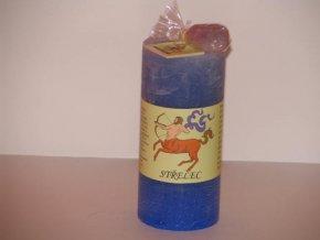 Svíčka válec střelec modrá