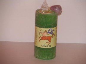 Svíčka válec střelec zelená