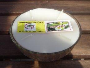 Interiérová svíčka ve skle, 4knoty-vanilka