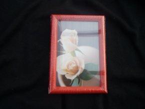 Fotorámeček 9x13cm červený R124A