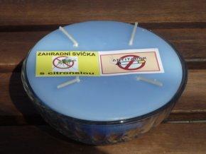 Interiérová svíčka ve skle, 4knoty-antitabák