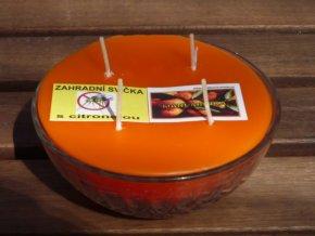 Interiérová svíčka ve skle, 4knoty-mandarinka