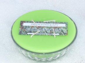 Interiérová svíčka miska 4-knotová - eukalypt