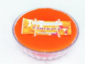 Interiérová svíčka miska 4-knotová - pomeranč