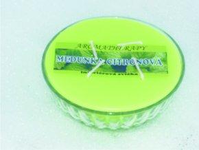 Interiérová svíčka miska 4-knotová - meduňka citrónová