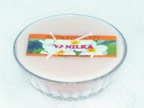 Interiérová svíčka miska 4-knotová - vanilka