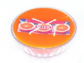 Interiérová svíčka miska 4-knotová - grep