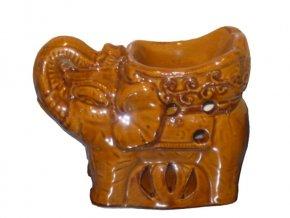 Aromalampa dekor slon hnědá č.01 - AKCE