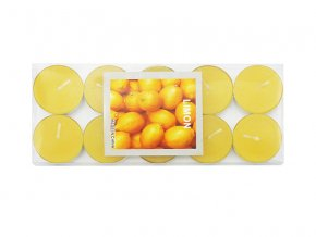 Čajové svíčky vonné citrón sada 10ks - AKCE
