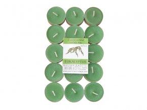 Čajové svíčky RENTEX vůně eukalyptus 15ks