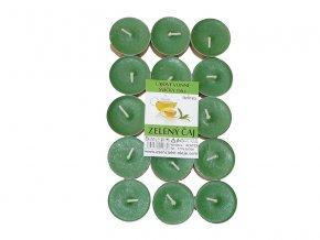 Čajové svíčky RENTEX vůně zelený čaj 15ks