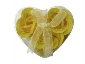 Mýdlové květy 3ks R134 žlutá - AKCE